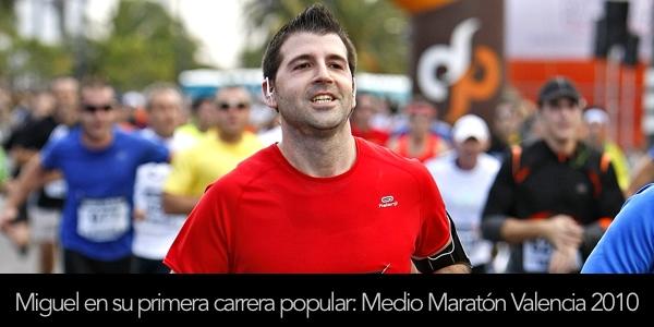 Miguel Díez en el Medio Maratón de Valencia Trinidad Alfonso 2010