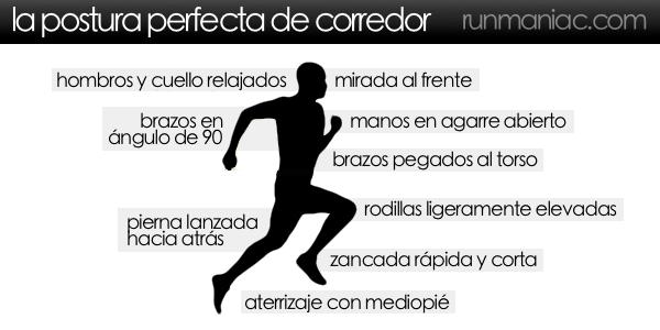 Postura perfecta para correr