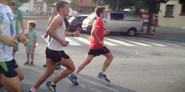 volando en el Medio Maratón de Valencia