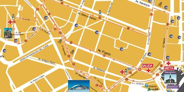 recorrido Media Maratón Valencia grande